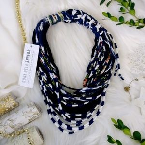 Dona Bela Shreds Navy Blue Alternative Neckwear